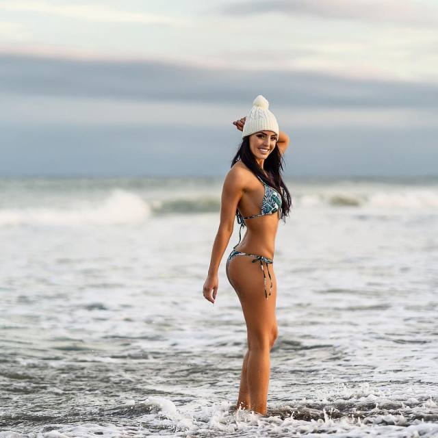 Peyton Royce on Beach