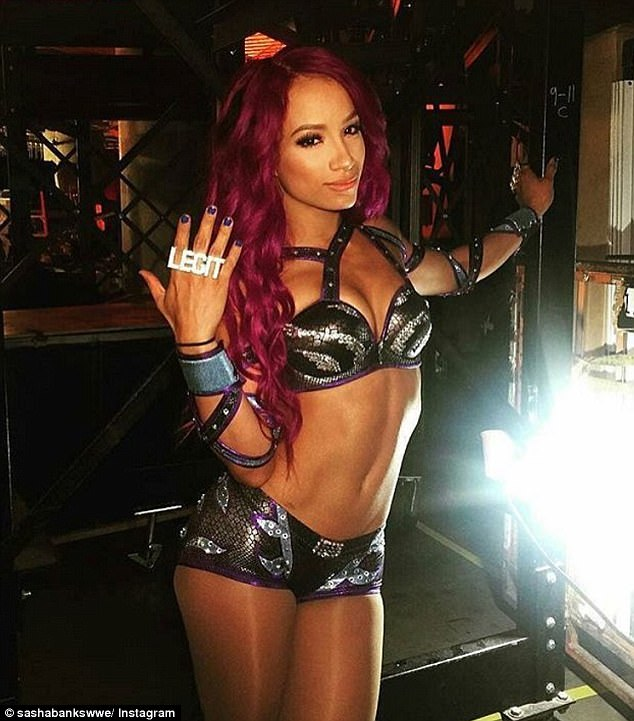Sasha Banks Sexy Boobs Pictures on Divas Dress