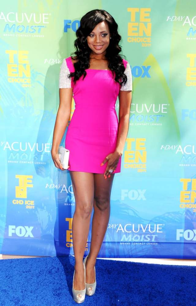 Tiffany Hines Hot in Pink Dress