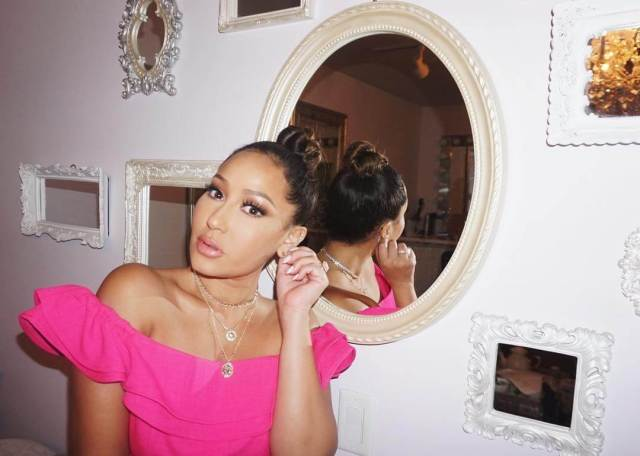 Adrienne Houghton pink top