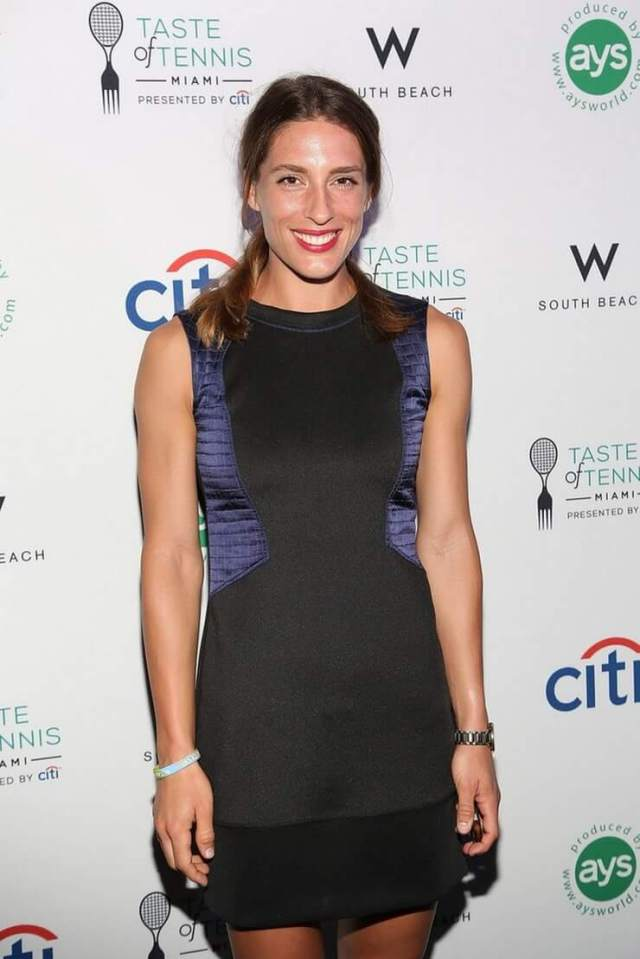 Andrea Petkovic black awesome dress