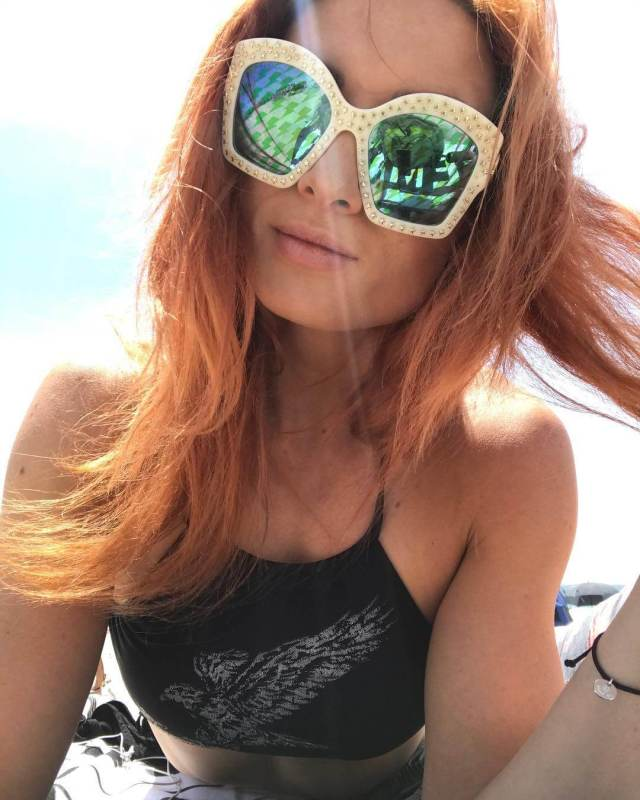 Becky Lynch awesome cleavages pic