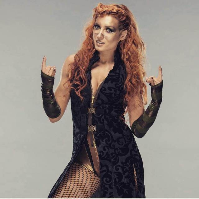 Becky Lynch awesome side boobs