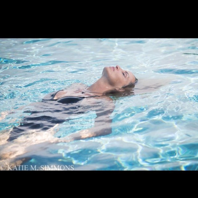 Camille Grammer on Swimming Pool