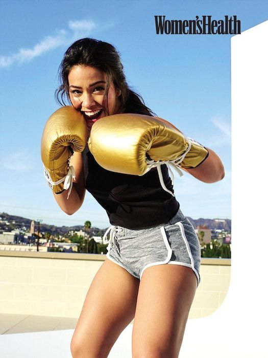 Gina Rodriguez Practicing For Boxing