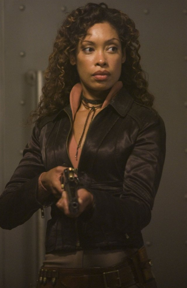 Gina Torres on Suiting