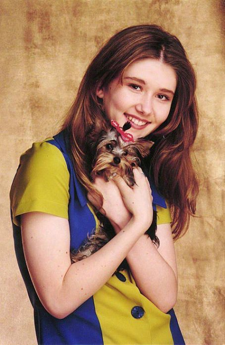 Jewel Staite with Puppy