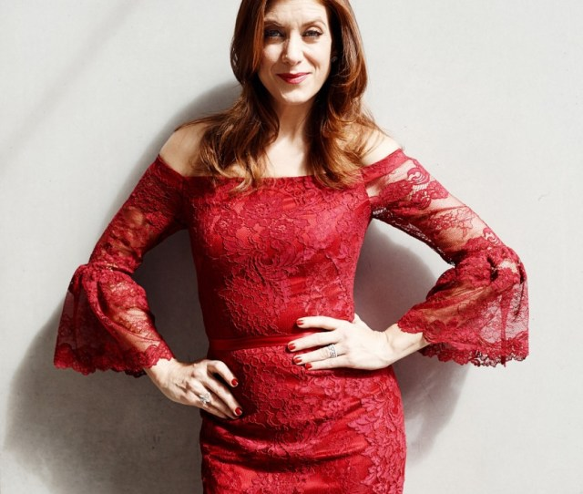 Kate Walsh Hot In Red Dress