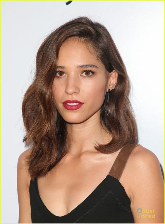 Kelsey Asbille Red Lips