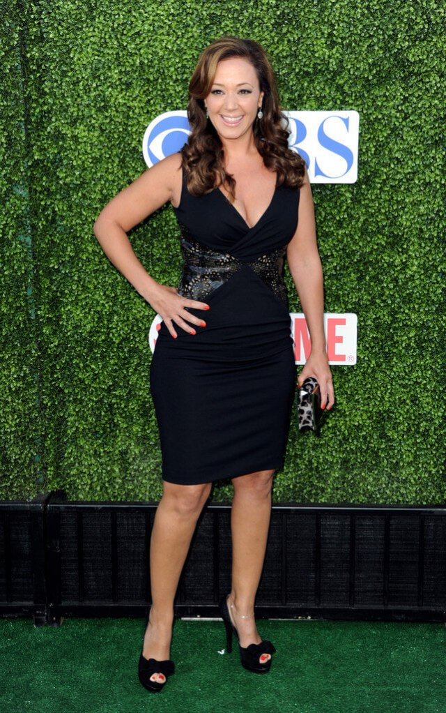 Leah Remini black sexy dress
