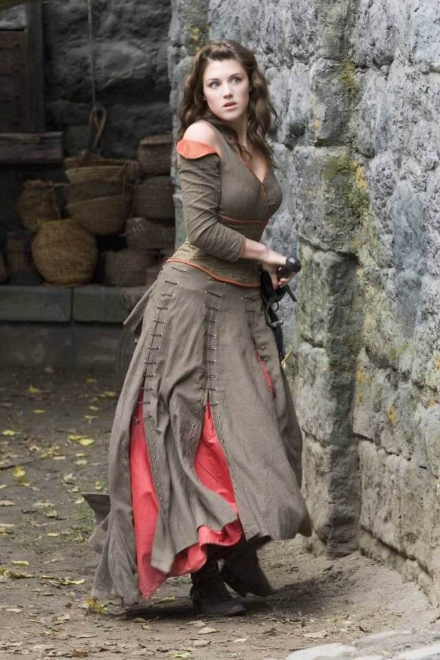 Lucy Griffiths long dress