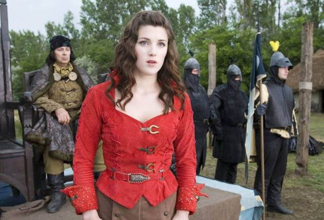 Lucy Griffiths sexy red look