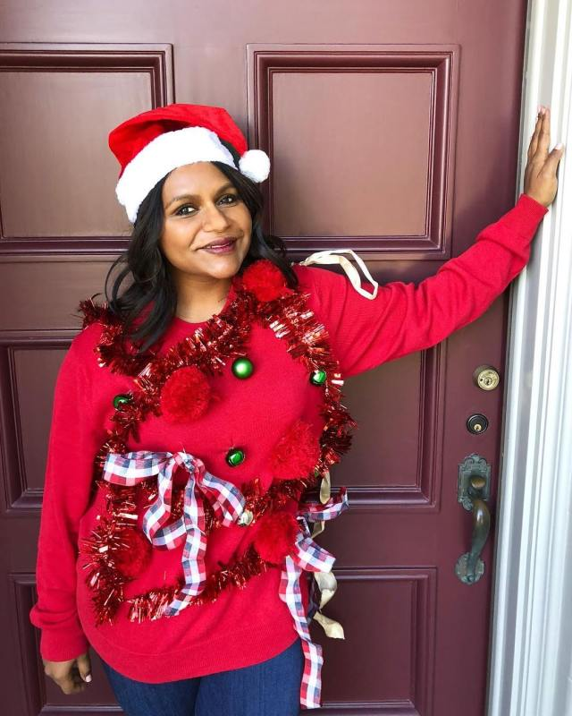 Mindy Kaling Christmas Dress