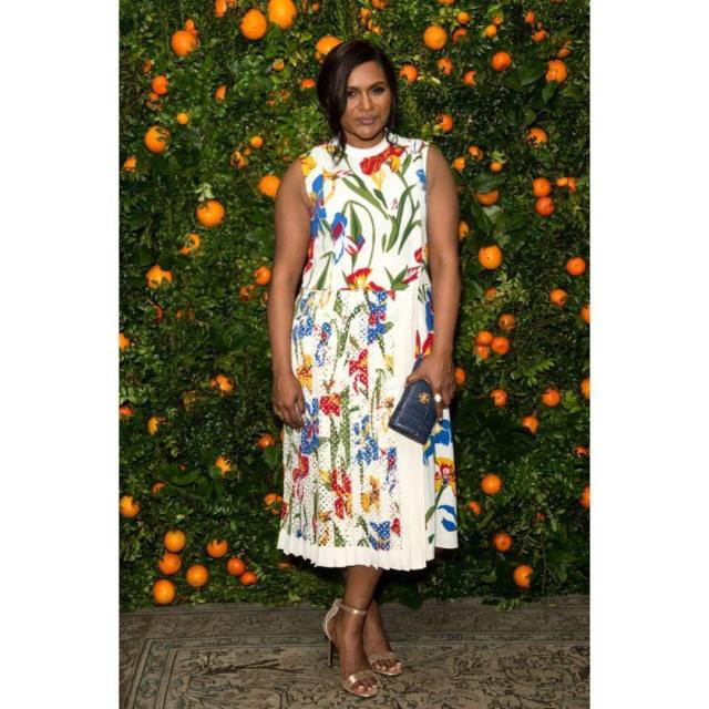 Mindy Kaling on garden
