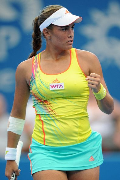 Monica Puig Hot in Yellow Sports Dress