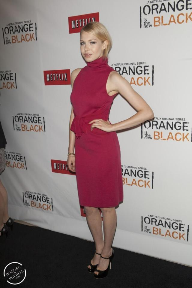 Penelope Mitchell sexy red look