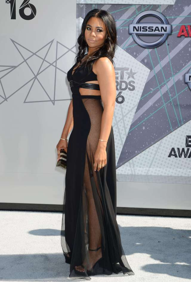 Regina Hall long black dress