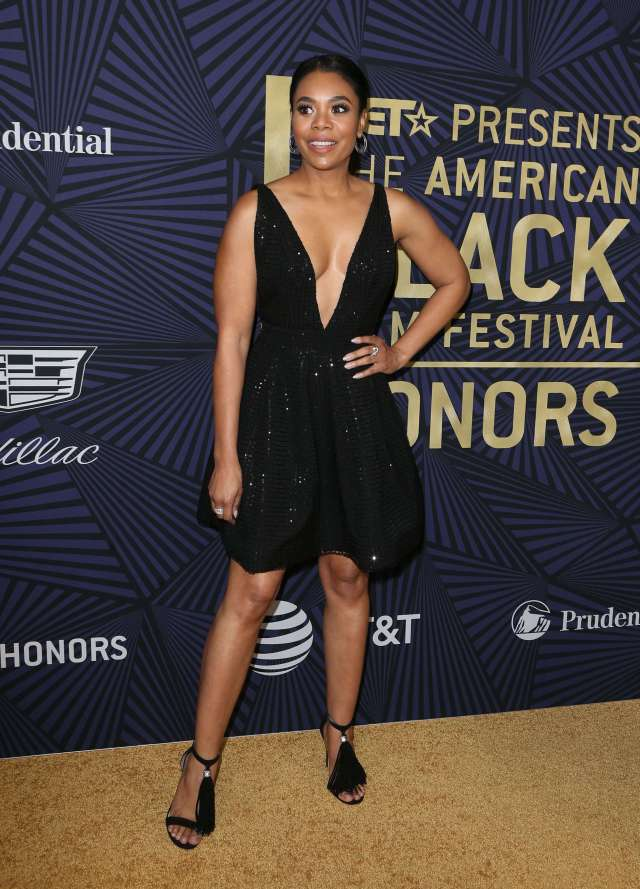 Regina Hall sexy black dress