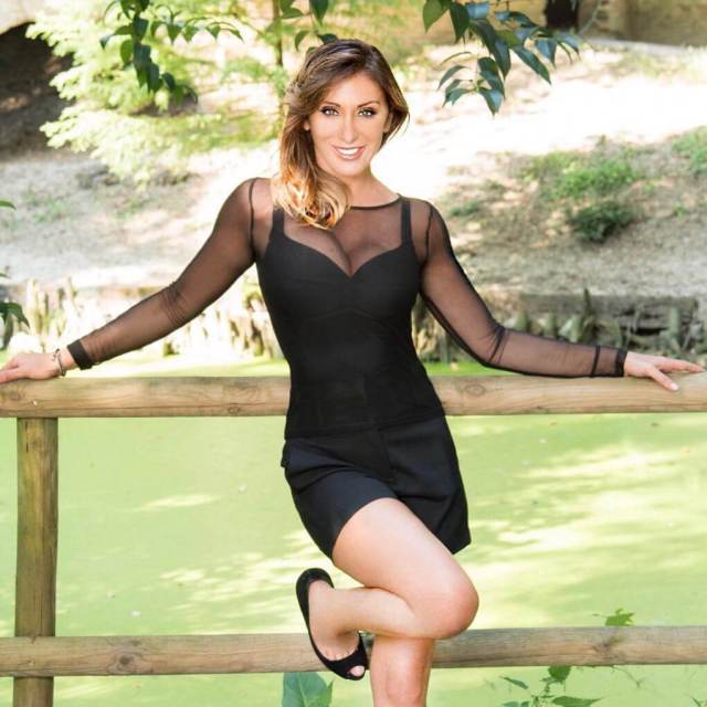 Sabrina Salerno sexy black dress