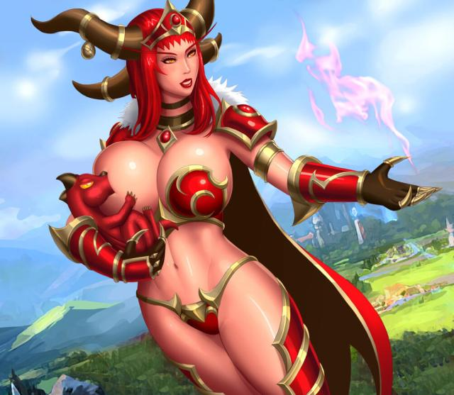 Alexstrasza sexy busty pictures (2)