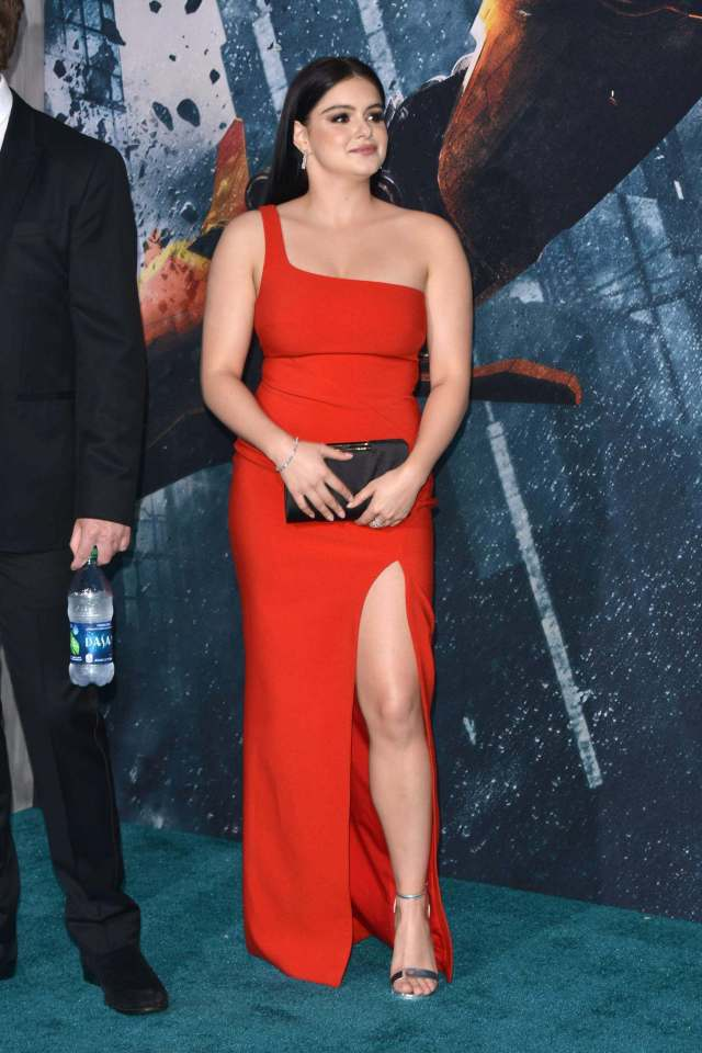 Ariel Winter hot red dress