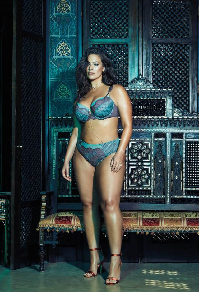 Ashley Graham blue sexy bikini