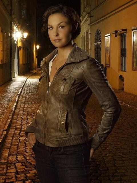 Ashley Judd Hot in Leather Jacket