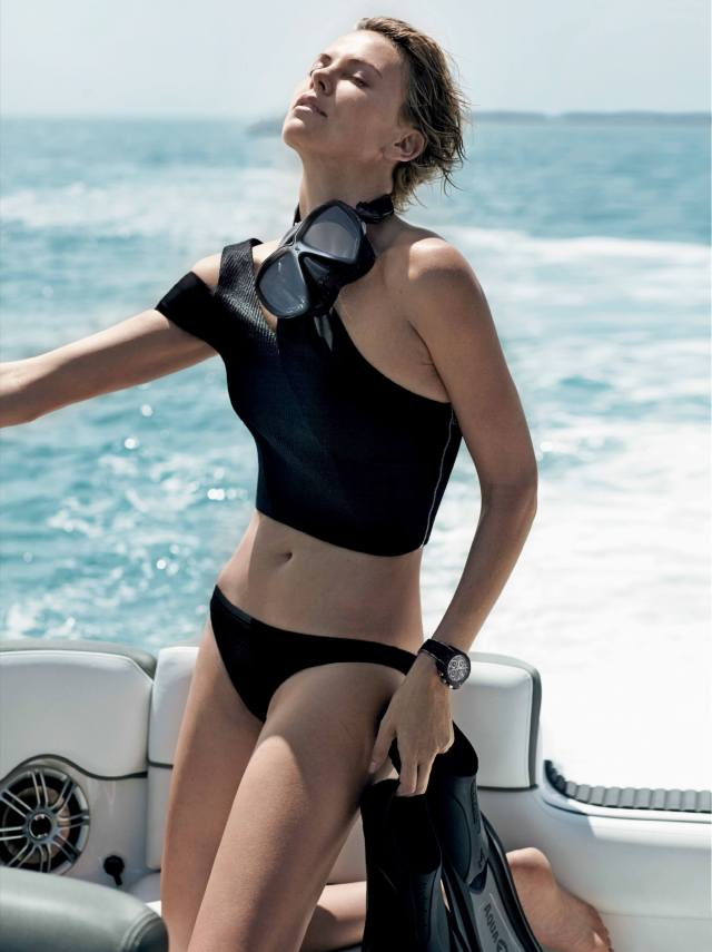 Charlize Theron hot black look