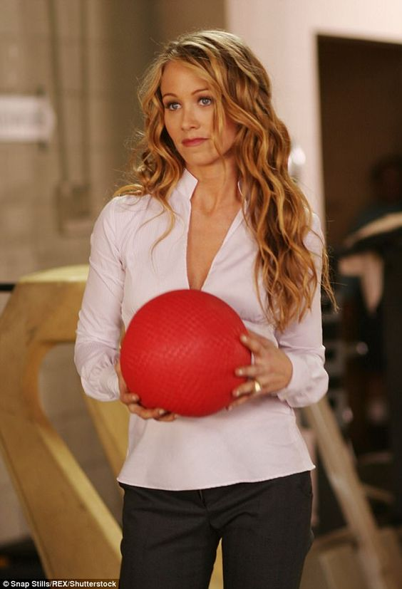 Christine Taylor with Red Ball