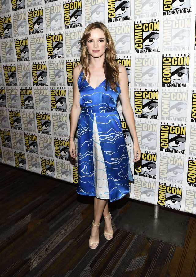 Danielle Panabaker awesome blue dress
