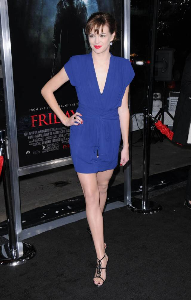 Danielle Panabaker blue awesome dress