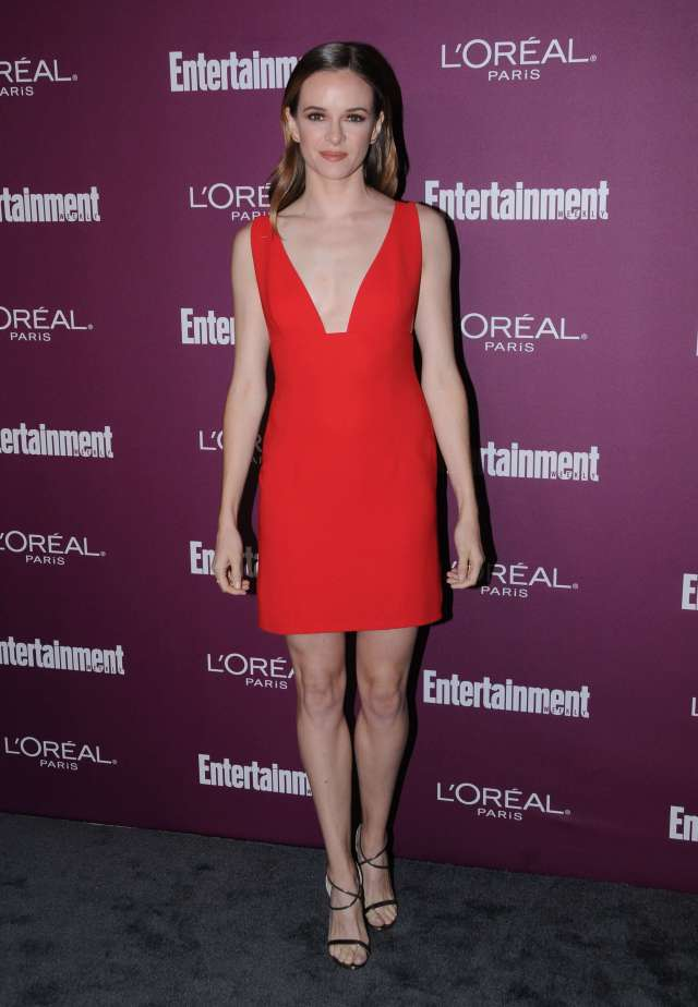 Danielle Panabaker red hot look