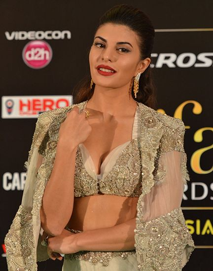 Jacqueline Fernandez Sexy Boobs Pics on Beautifull Dress