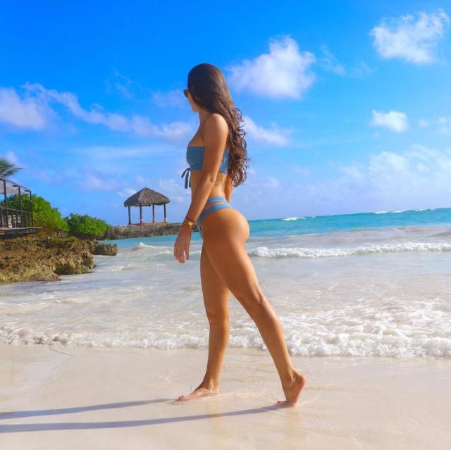 Jen Selter on Beach