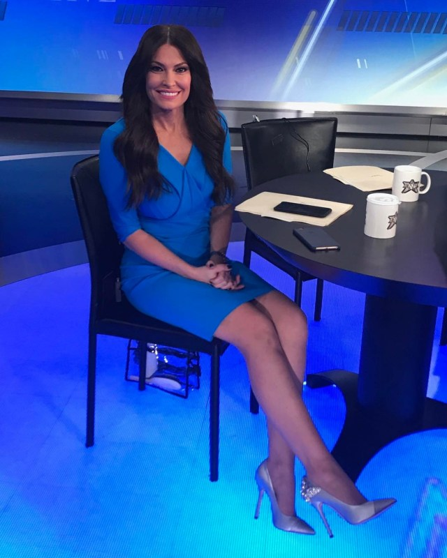Kimberly Guilfoyle Hot in Blue Short Dress