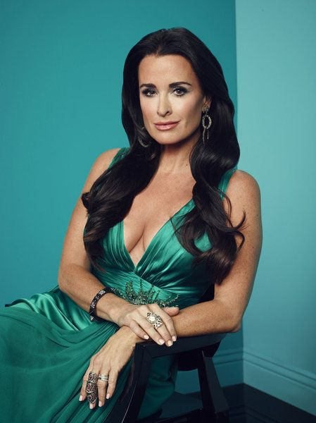 Kyle Richards Hot in Green Dress