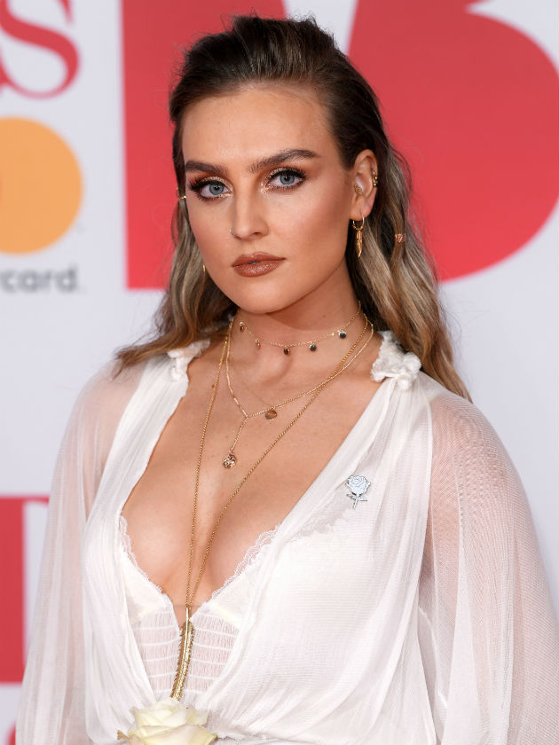 Perrie Edwards Sexy Big Boobs Pics on White Dress