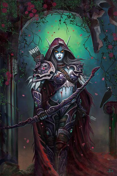 Sylvanas cleavages awesome