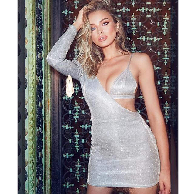 Tanya Mityushina Hot in Short Dress