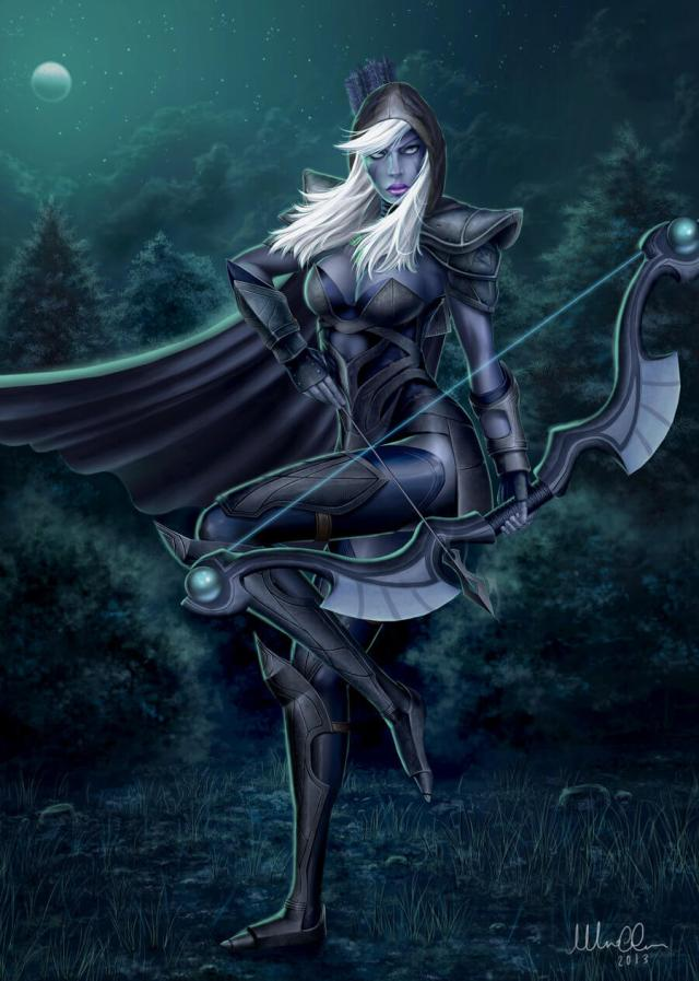 Traxex the Drow Ranger hot pictures