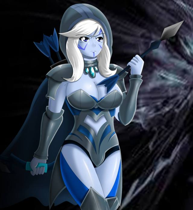 Traxex the Drow Ranger sexy picture