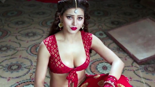 Urvashi Rautela Sexy Boobs Pics on Red Blouse