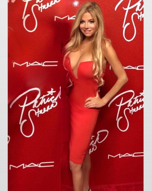 Wendy Starland Hot in Red dress