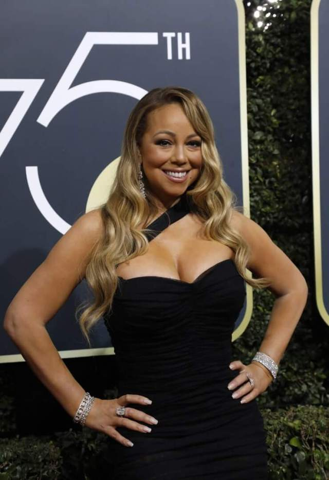 mariah carey black dress