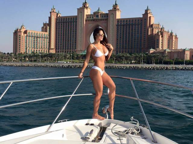 michelle lewin on the boat