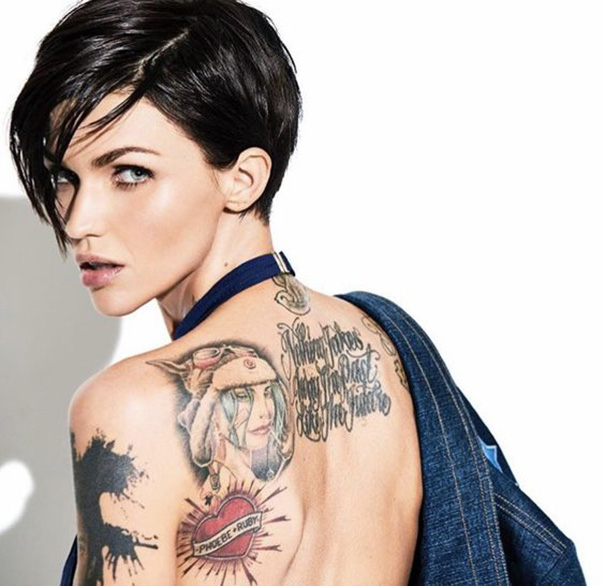 ruby rose sexy back