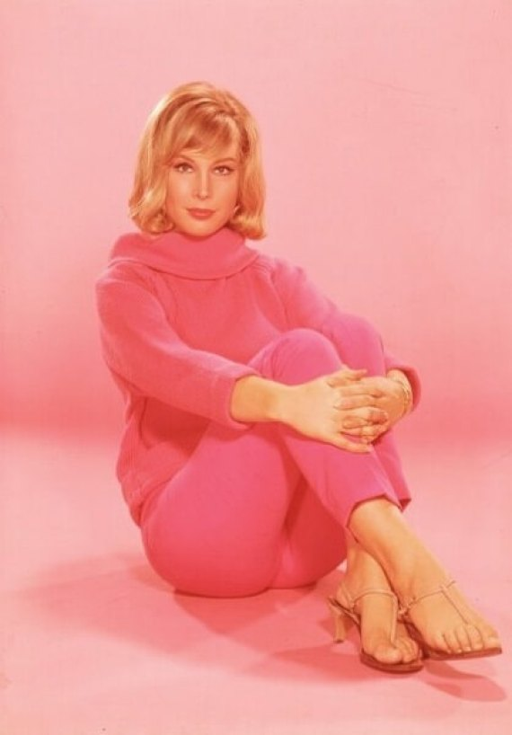 Barbara Eden SEXY PINK DRESS