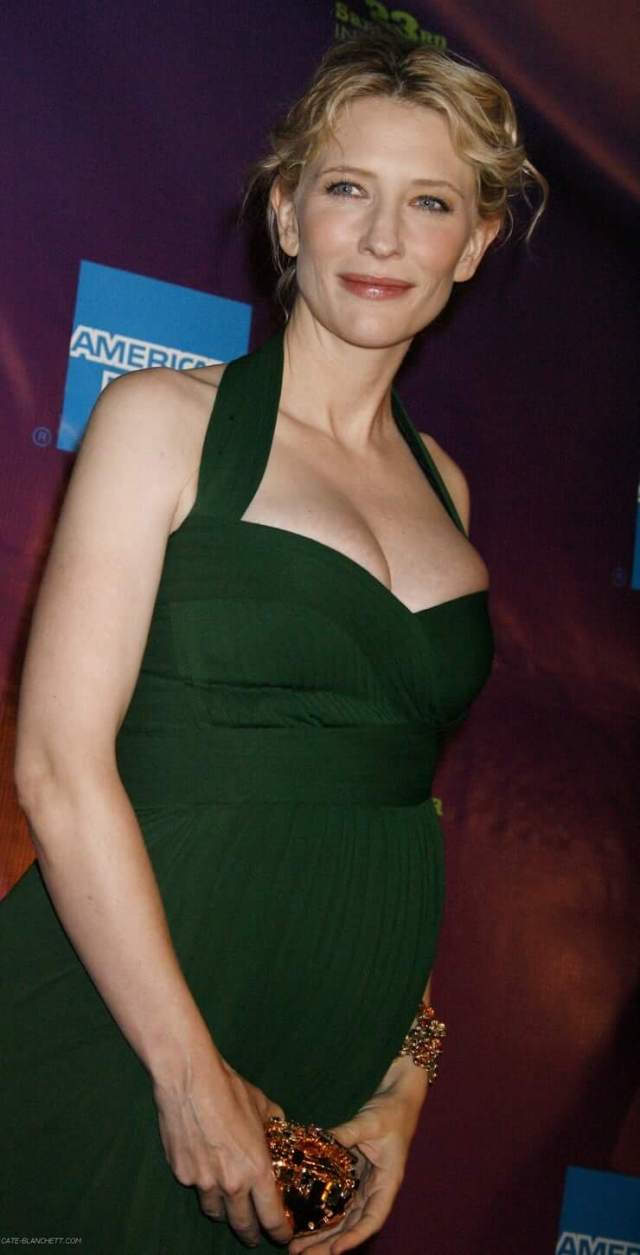 Cate Blanchett cleavage pic