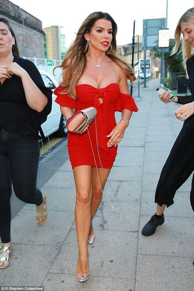 Christine McGuinness sexy red dress pic