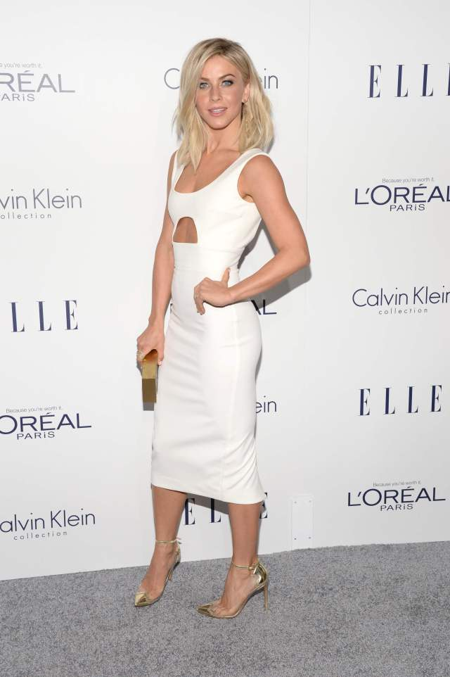 Julianne Hough sexy white dress pic